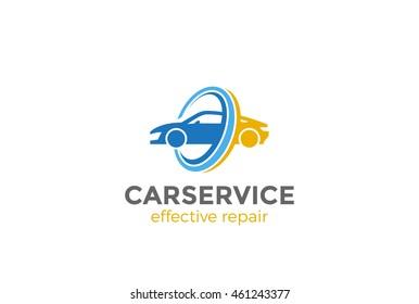 Car Logo abstract design vector template. Vehicle repair washing service Logotype concept icon.