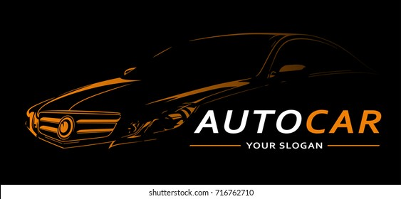 Car Logo Abstract Lines Vector. Vector illustration