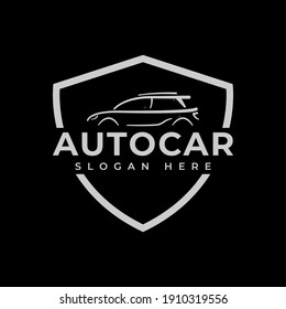 Car logo on black background. Perfect for company use.