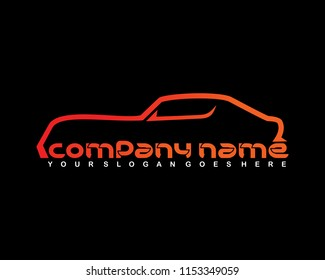 Car logo vector template illustration