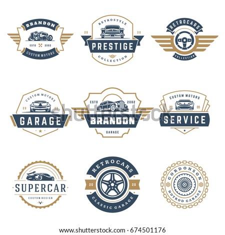 car logos templates vector design elements stock vector royalty