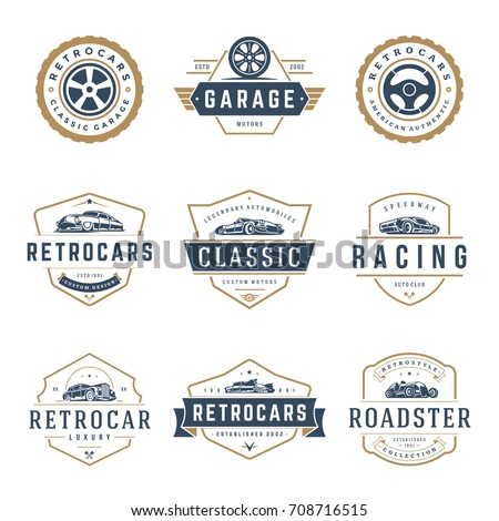 Car Logos Templates Vector Design Elements Stock Vector Royalty