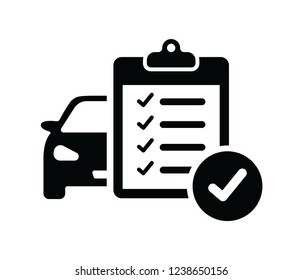 car maintenance list icon vector