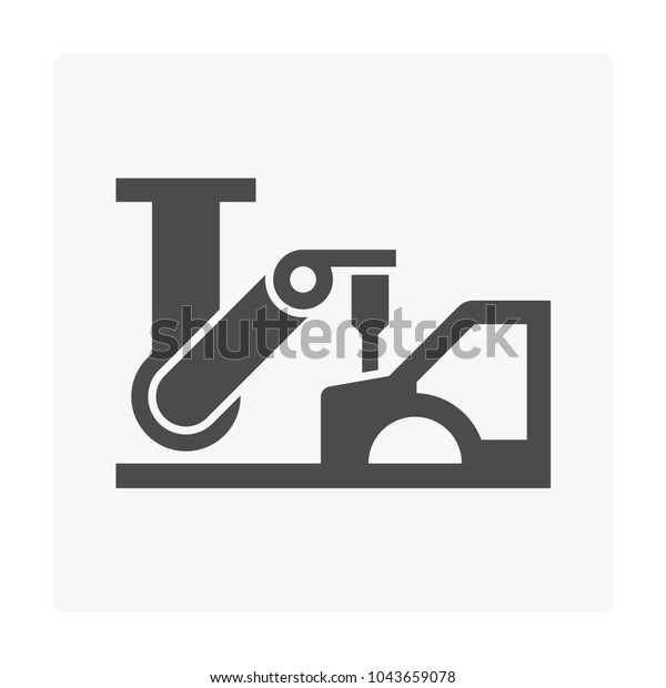 Car Manufacture Robot Icon On White Stock Vector Royalty Free