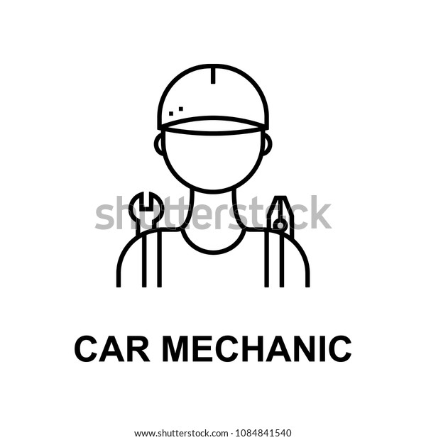 car mechanic icon. Element of car repair for mobile concept and web apps. Detailed  icon can be used for web and mobile. Premium icon on white background