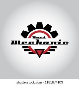 Car mechanic logo