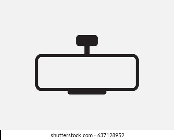 Car mirror, icon, vector illustration of Eps10