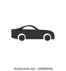 Car. monochrome icon template black color editable. Car symbol vector sign isolated on white background. Simple logo vector illustration for graphic and web design.