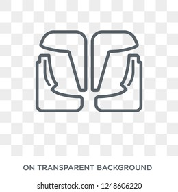 car mud flap icon. car mud flap design concept from Car parts collection. Simple element vector illustration on transparent background.