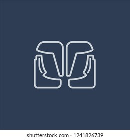 car mud flap icon. car mud flap linear design concept from Car parts collection. Simple element vector illustration on dark blue background.