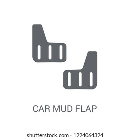 car mud flap icon. Trendy car mud flap logo concept on white background from car parts collection. Suitable for use on web apps, mobile apps and print media.