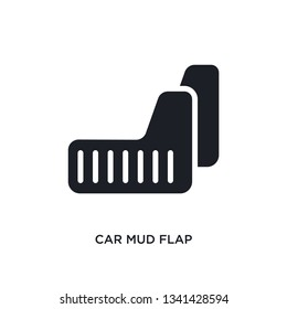 car mud flap isolated icon. simple element illustration from car parts concept icons. car mud flap editable logo sign symbol design on white background. can be use for web and mobile