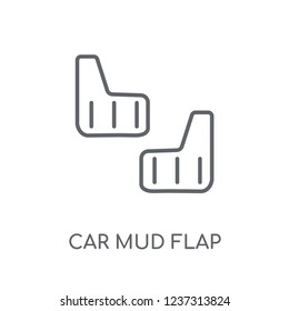 car mud flap linear icon. Modern outline car mud flap logo concept on white background from car parts collection. Suitable for use on web apps, mobile apps and print media.