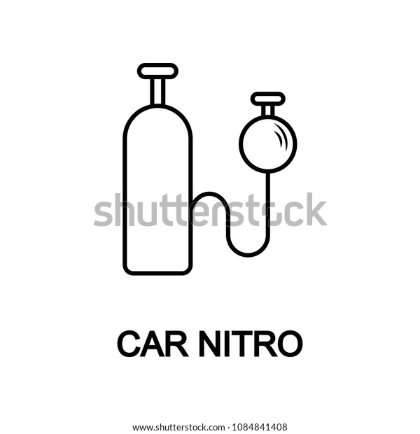 car nitro icon. Element of car repair for mobile concept and web apps. Detailed  icon can be used for web and mobile. Premium icon on white background