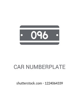 car numberplate icon. Trendy car numberplate logo concept on white background from car parts collection. Suitable for use on web apps, mobile apps and print media.
