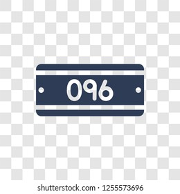 car numberplate icon. Trendy car numberplate logo concept on transparent background from car parts collection