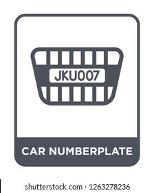 car numberplate icon vector on white background, car numberplate trendy filled icons from Car parts collection, car numberplate simple element illustration