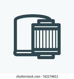 Car oil filter vector icon