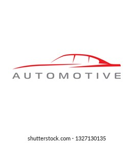 Car outline automotive sign for your project