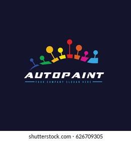 Car Paint , Automotive logo template