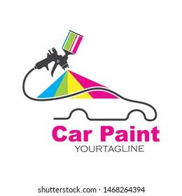 car paint logo icon illustration vector design
