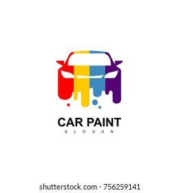 Car Paint Logo, Shop Painting Icon