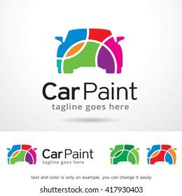 Car Paint Logo Template Design Vector