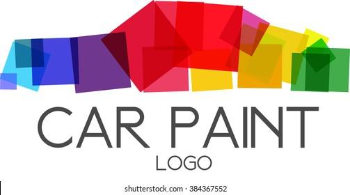Car paint logo vector.