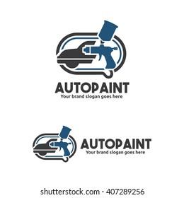 Car Paint with Spray Gun Logo Template
