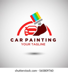Car Painting Logo Vector. Automotive and Transportation Logo template