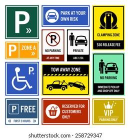 Car Park Parking Signboards
