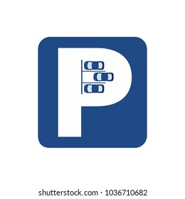 Car parking logo, sign