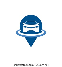 Car Parking Logo Template Design