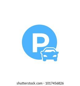 car parking vector icon