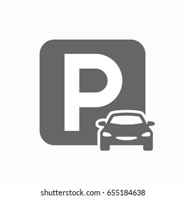 Car parking vector icon
