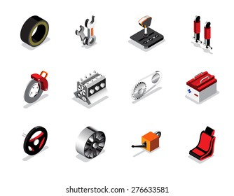 Car part icon and logo, Garage car services, Auto services. vector illustration