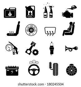 car part set of repair icon vector illustration.Car service maintenance icon