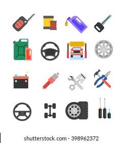 Car parts vector set.