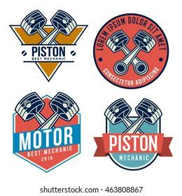 car piston emblem set (autoservices repair)