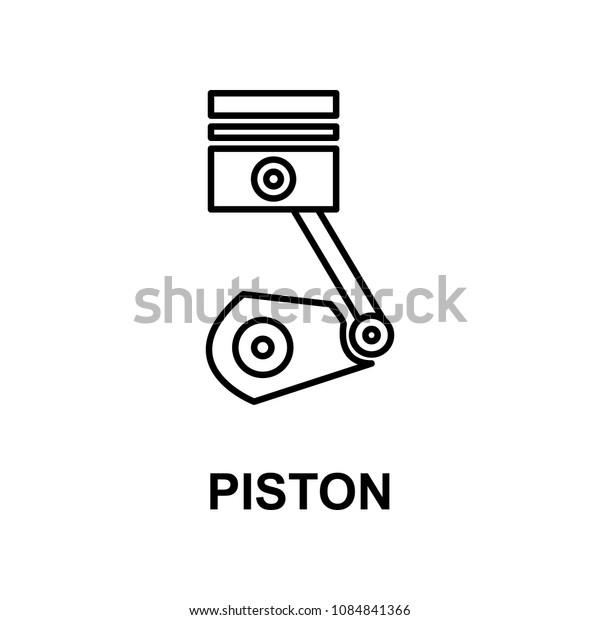 car piston icon. Element of car repair for mobile concept and web apps. Detailed  icon can be used for web and mobile. Premium icon on white background