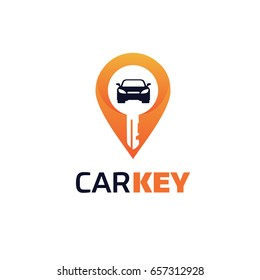Car Point Key Logo Template Designs