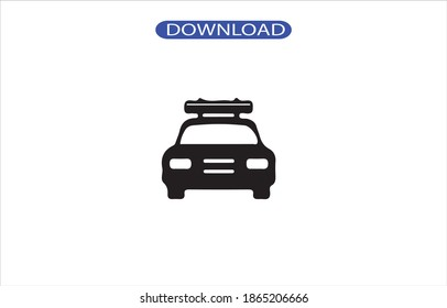 car police icon or logo isolated sign symbol vector illustration - high quality black style vector icons.
