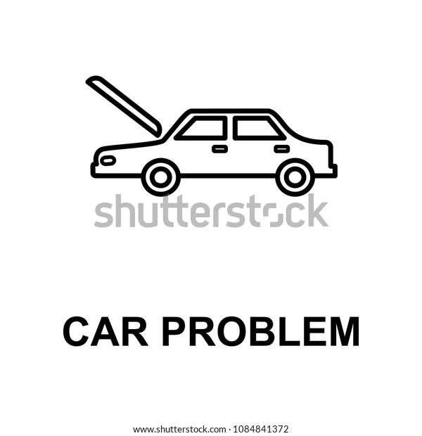 car problem icon. Element of car repair for mobile concept and web apps. Detailed  icon can be used for web and mobile. Premium icon on white background