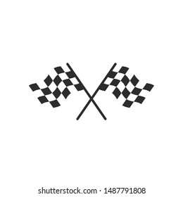 Car Racing Flag icon template color editable. Finishing Flags symbol vector sign isolated on white background. Simple logo vector illustration for graphic and web design.