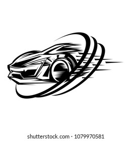 Car racing sport design vector