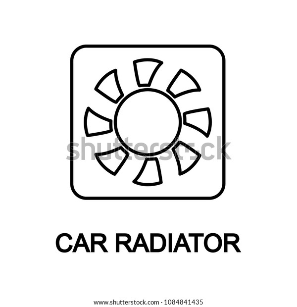 car radiator icon. Element of car repair for mobile concept and web apps. Detailed  icon can be used for web and mobile. Premium icon on white background