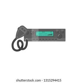 Car Radio Transceiver, Walkie Talkie Vector Illustration