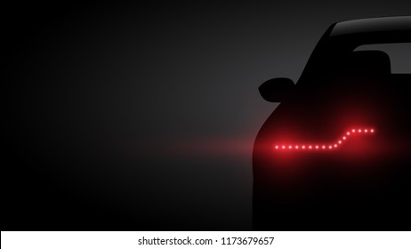 car rear view vector background