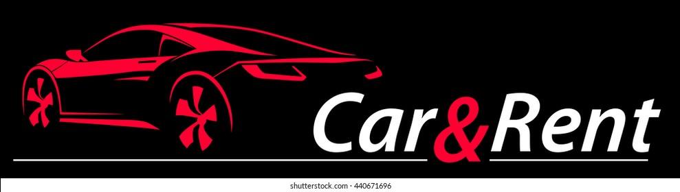 Car Rent Abstract Lines Vector. Logo. Vector illustration