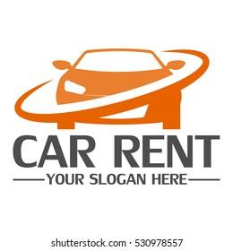 Car rent logo design template